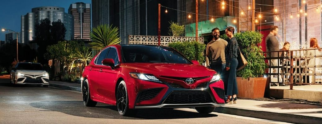 2022 Toyota Camry front look in the evening