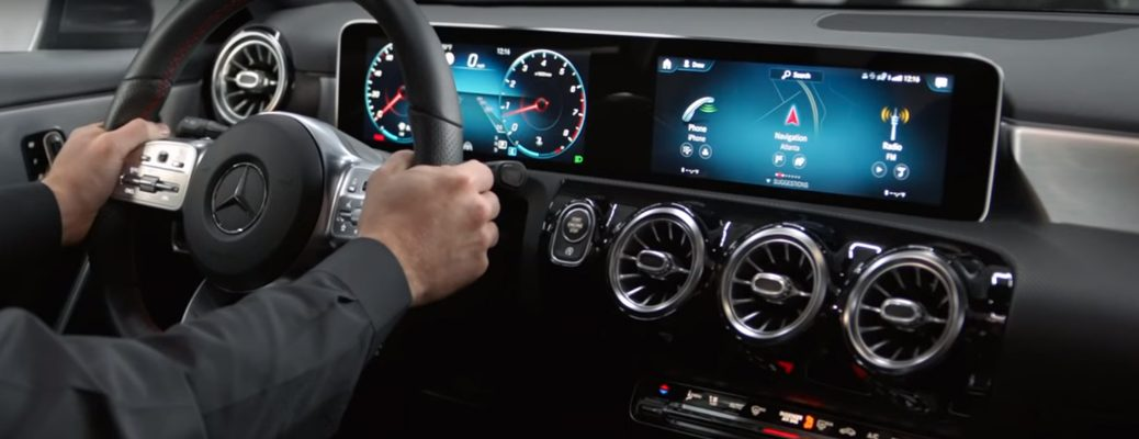 Mercedes-Benz User Experience (MBUX) multimedia system in a Mercedes-Benz SUV