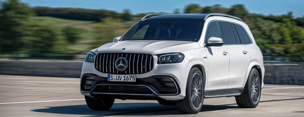 2021 Mercedes-AMG® GLS 63 on the road.