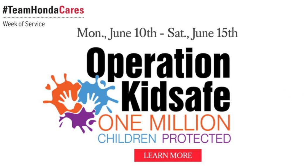 Image of Swickard Honda's Operation Kidsafe banner.