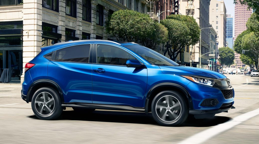 Image of a blue 2019 Honda HR-V.