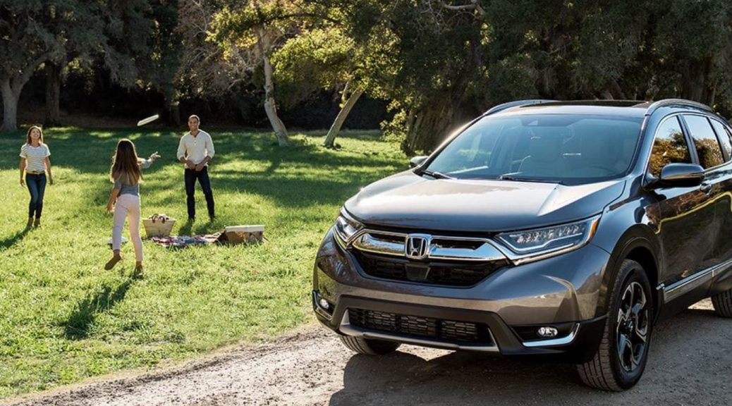 Image of a 2019 Honda CR-V parked in a driveway.