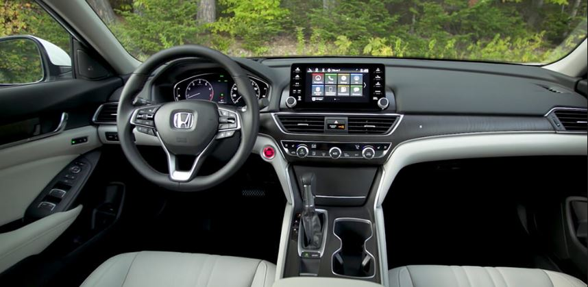 Image of the interior of a 2019 Honda Accord.