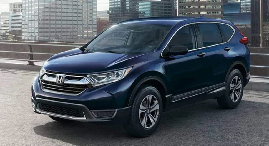 Image of a blue 2019 Honda CR-V