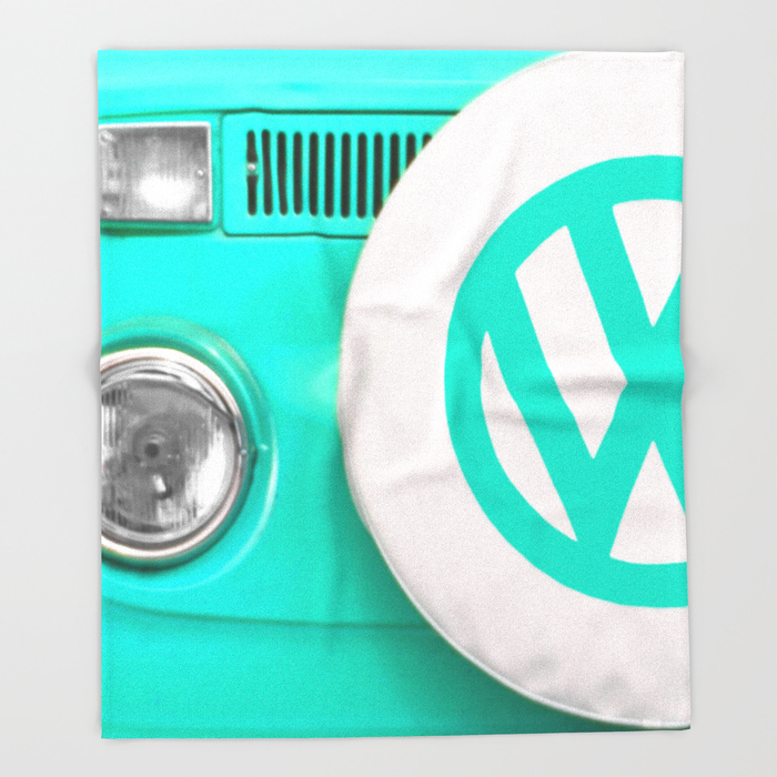 VW Camper Van Throw Blanket