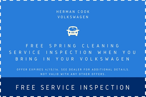 Free Service Inspection Coupon- Spring Cleaning
