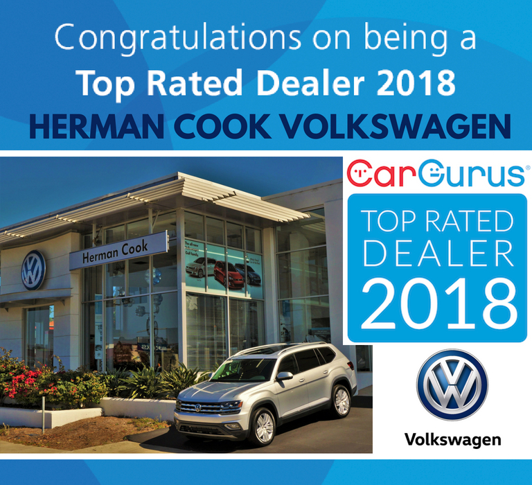 Car Gurus Dealer >> Herman Cook Vw Named A 2018 Top Rated Dealer By Cargurus Herman