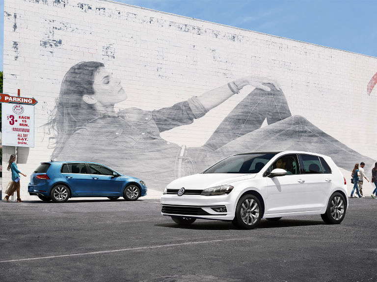 two 2019 VW Golf models