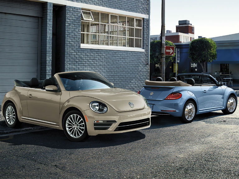 two 2019 VW Beetle Convertible models