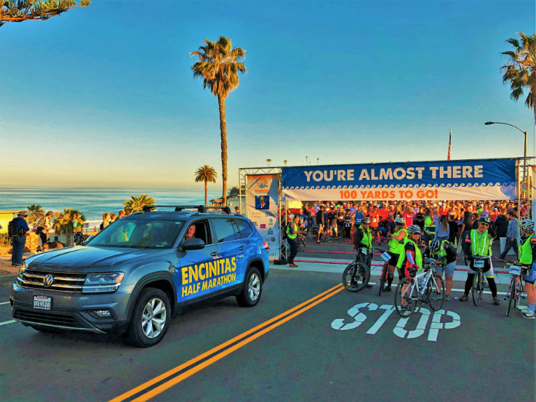 starting line at the Encinitas Half Marathon and 5K