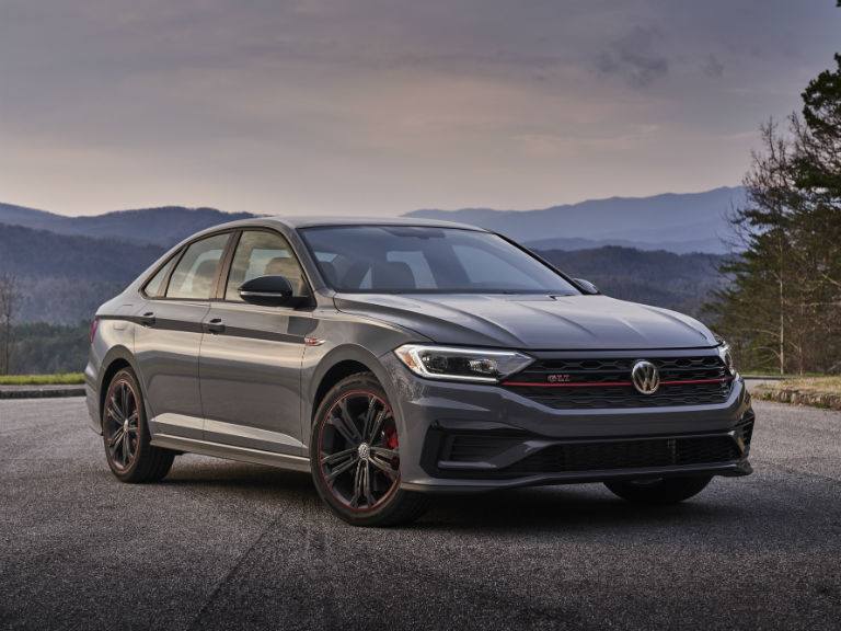 front view of a gray 2019 VW Jetta