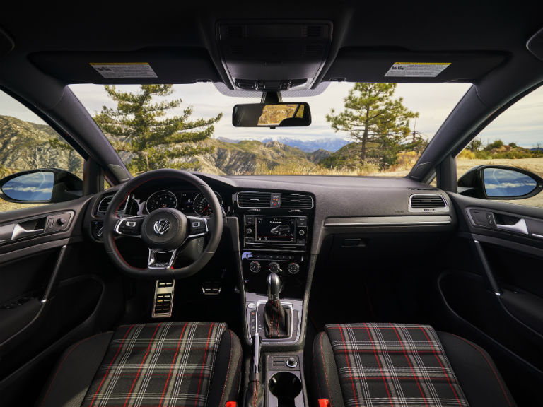 front interior of a 2019 VW Golf GTI