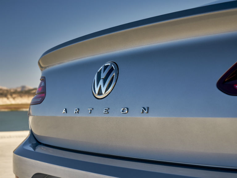 rear logo on a 2019 VW Arteon