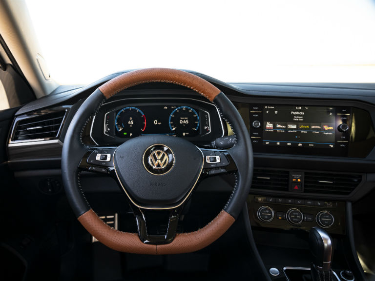 driver dash in a 2019 VW Jetta