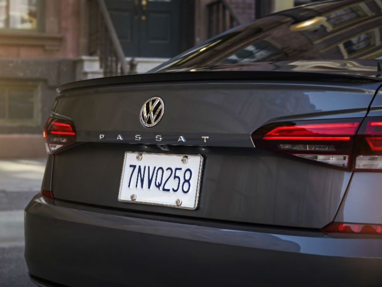 rear logo on a 2020 VW Passat