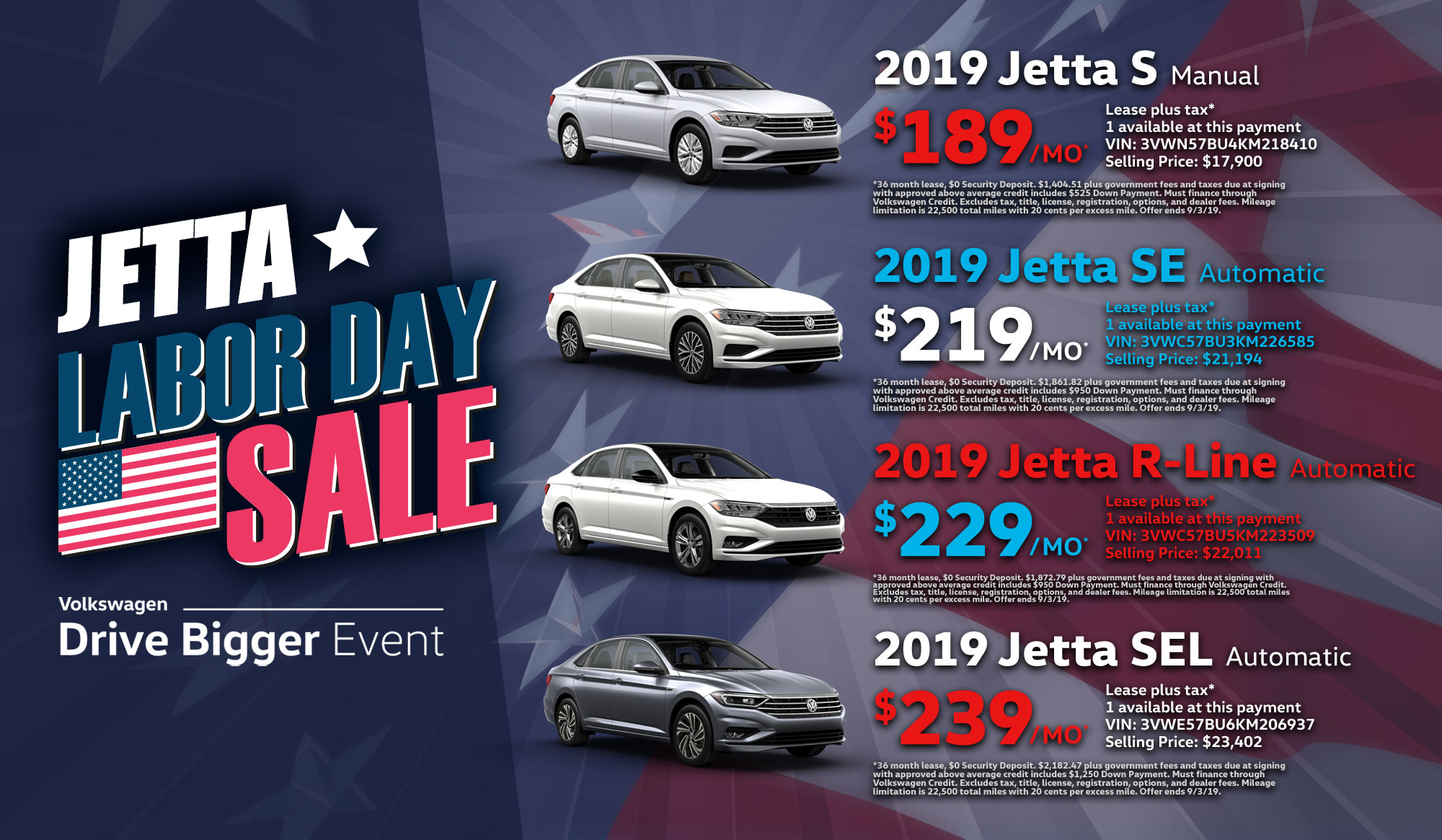 Labor Day 2019 sale graphic