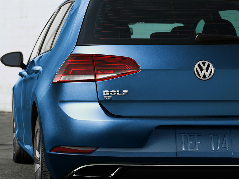 rear-view-of-a-blue-2019-VW-Golf