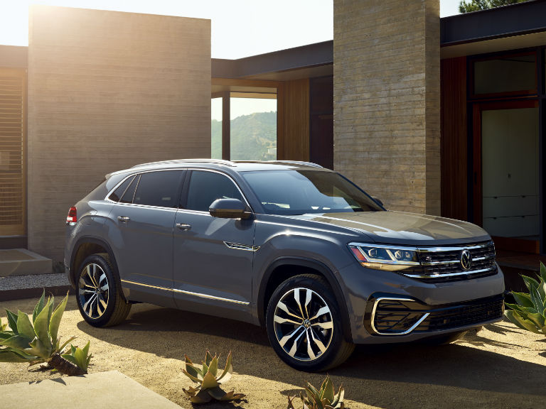 side view of a gray 2020 VW Atlas Cross Sport
