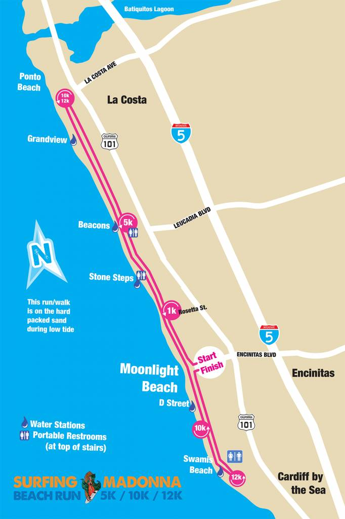 2019 Surfing Madonna Race Course Map