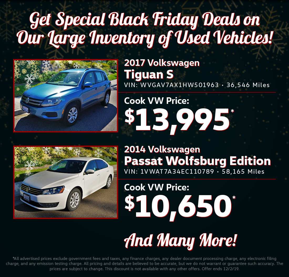 Special Black Friday Deals on Our Large Inventory of Used Vehicles