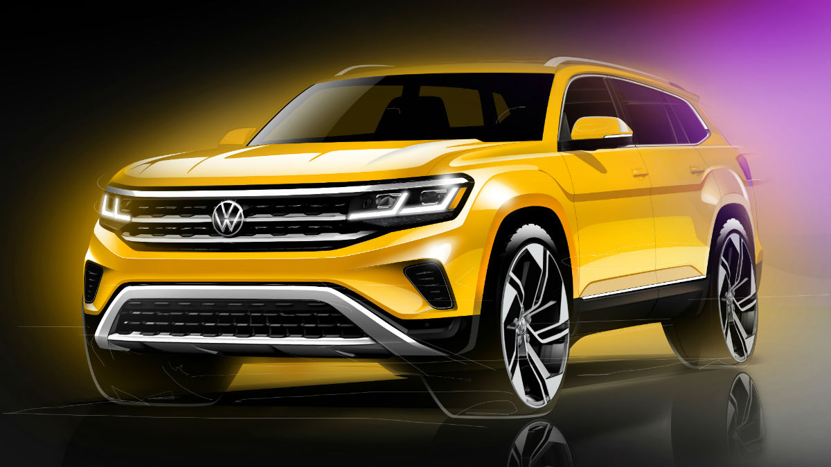 front view of a 2021 VW Atlas