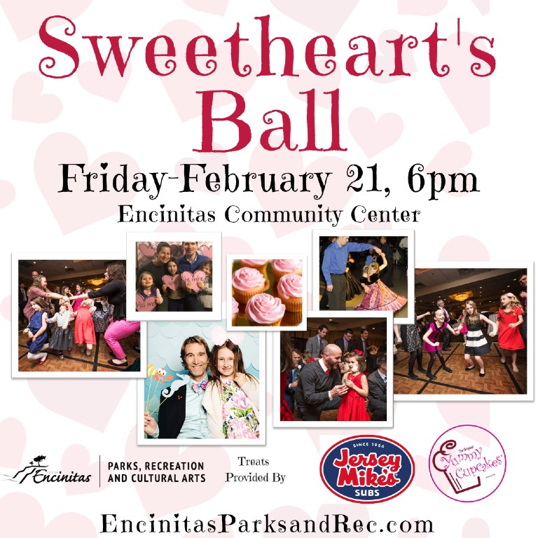 When and Where is the Sweetheart's Ball in Encinitas CA?