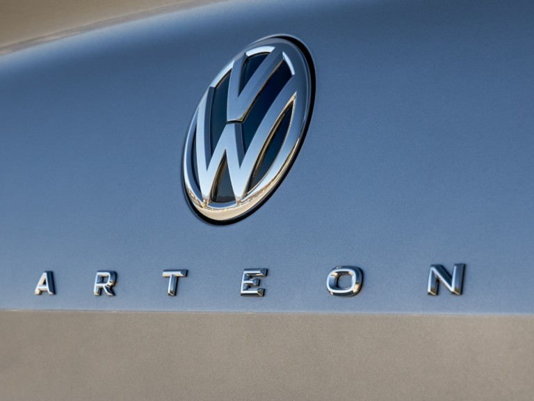 logo and badge of a VW Arteon