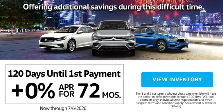 Herman Cook VW Celebrates 4th of July with No Payment for 120 Days and 0% APR for 72 Months