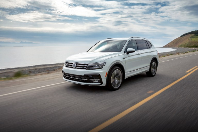 front view of a white 2020 VW Tiguan