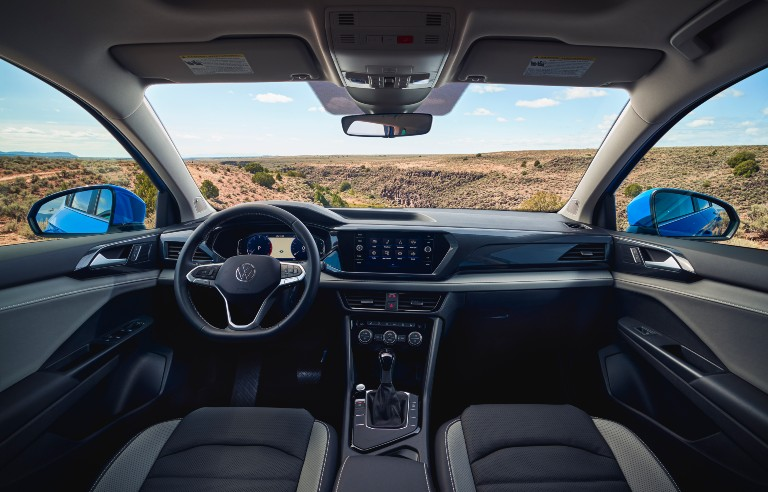 front interior of a 2022 VW Taos