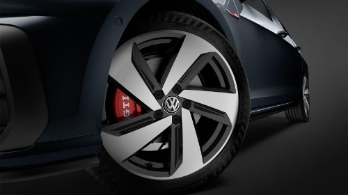 Driver side wheel of 2019 Volkswagen Golf GTI
