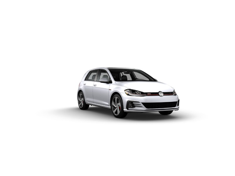 2019 VW Golf GTI in White Silver Metallic