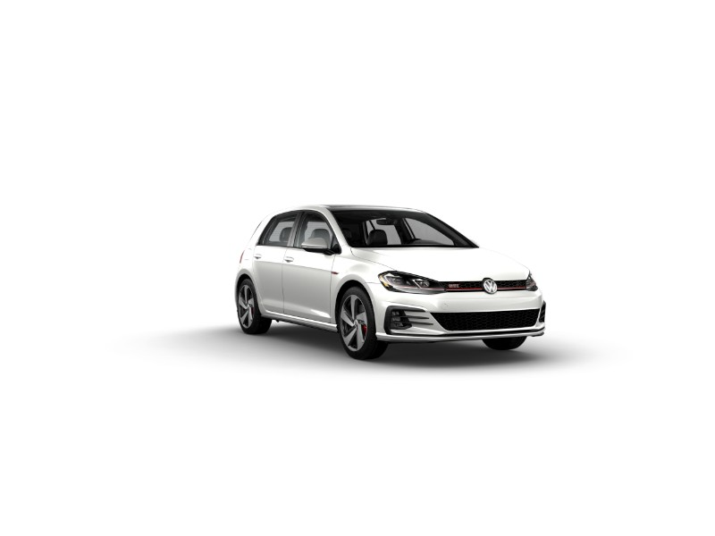 2019 Volkswagen Golf GTI in Pure White