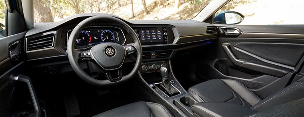 Steering wheel and dash inside 2019 VW Jetta