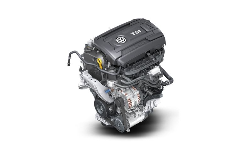 Image of the 2021 Volkswagen Atlas Turbo engine
