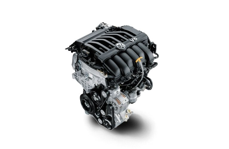 Image of the 2021 Volkswagen Atlas V6 engine