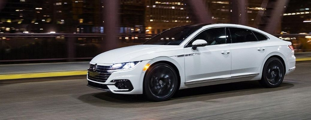 Exterior view of a white 2020 Volkswagen Arteon