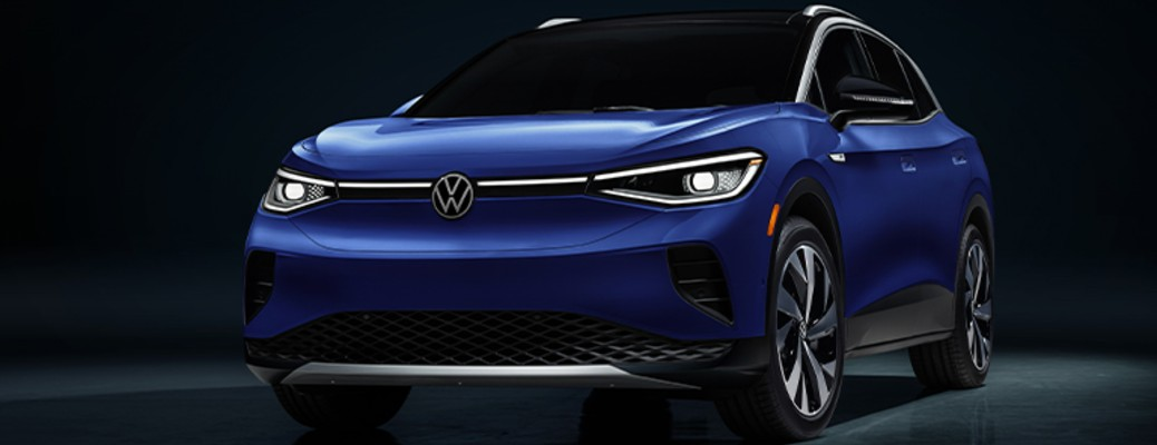 A blue-colored 2021 Volkswagen ID.4
