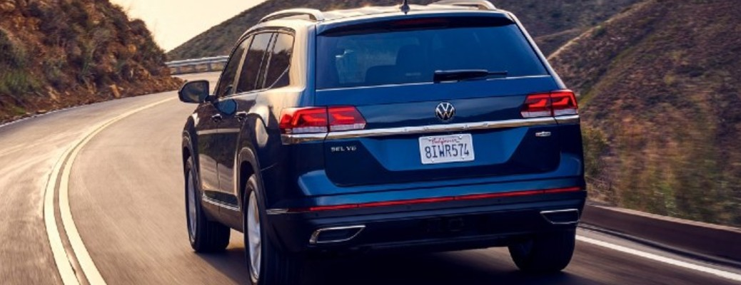 Rear and side exterior of the 2021 Volkswagen Atlas