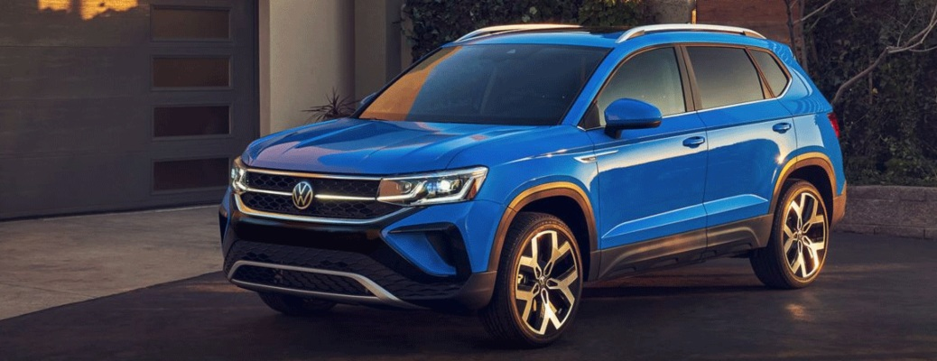 2022 Volkswagen Taos parked in the road