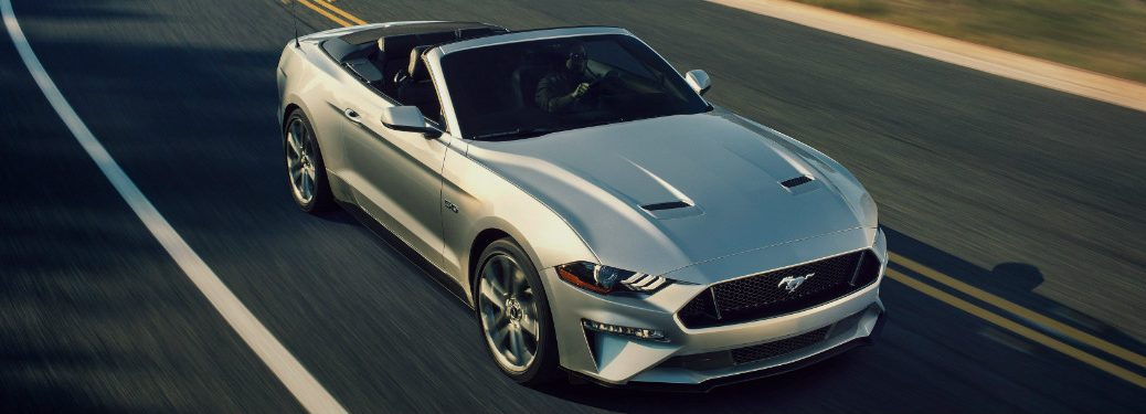 2019 Ford Mustang Convertible driving on highway