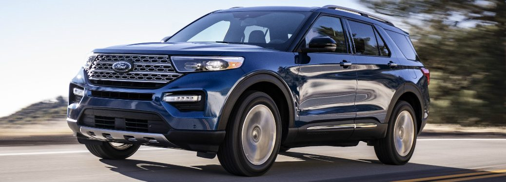 2020 Ford Explorer driving on highway