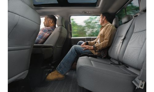2020 Ford F-150 interior man in passenger seat and man in back row