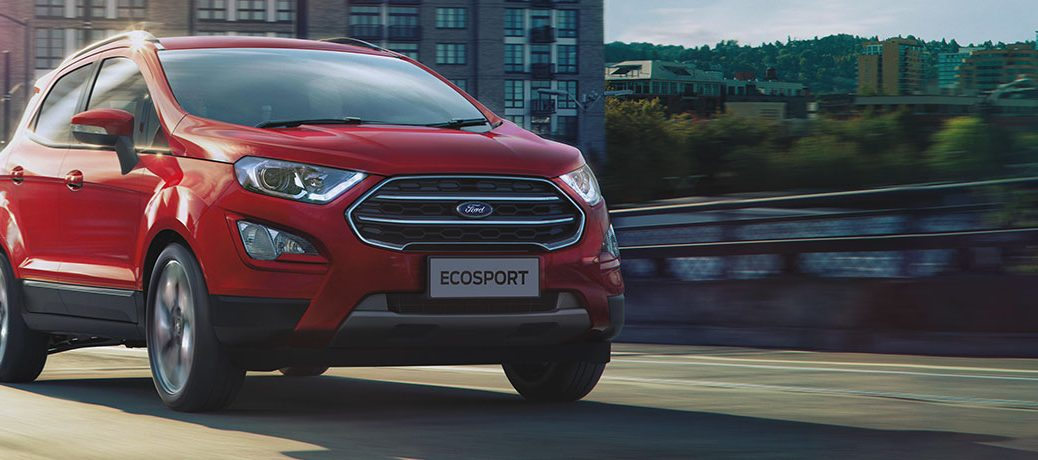 red ford ecosport front view