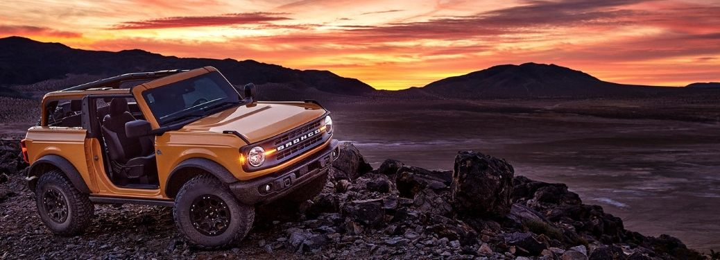 2021 Ford Bronco at sunset