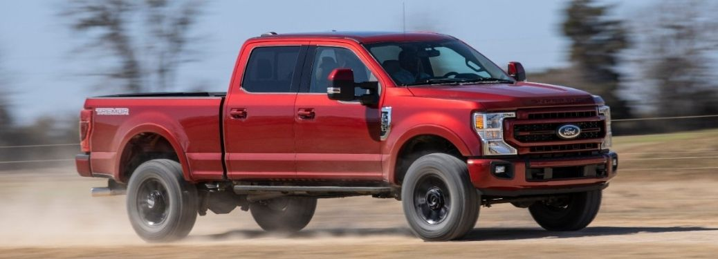 2022 Ford Super Duty driving on dirt