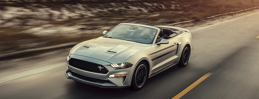 2021 Ford Mustang going down the road