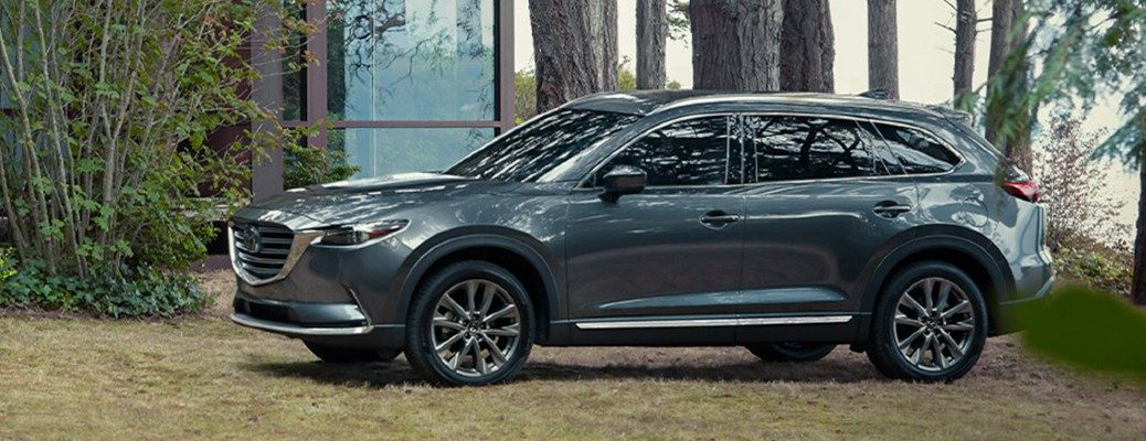 2020 Mazda CX-9 at a home in the woods