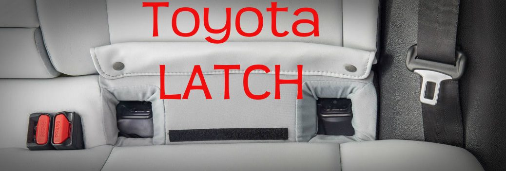 Toyota LATCH seat lower anchors for child safety seat