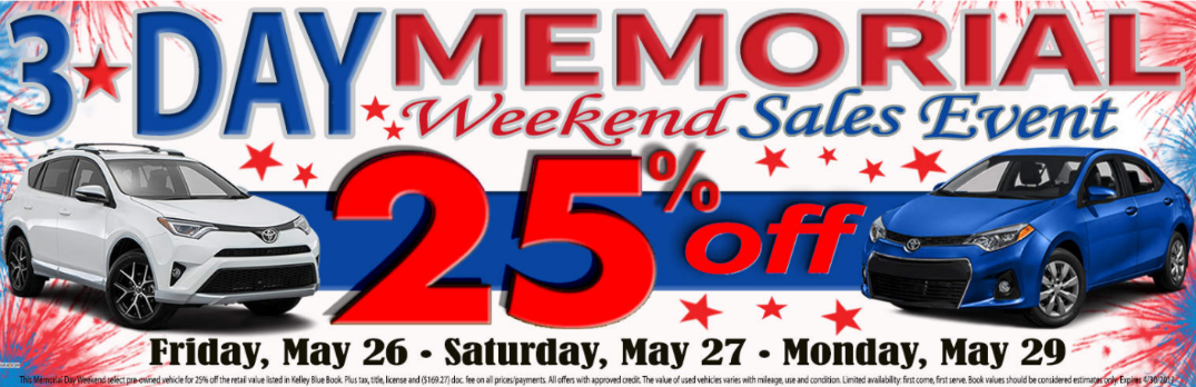 Memorial Day Car Sales 2017 >> Memorial Day Sale Near Schaumburg Arlington Heights And